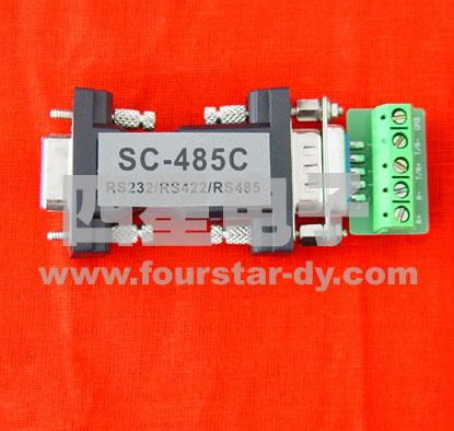 sc-485c通讯转换器用于实现rs232到rs485或rs422的通讯转换.